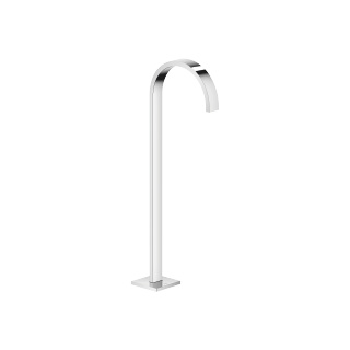 Tub spout without diverter for freestanding installation - polished chrome