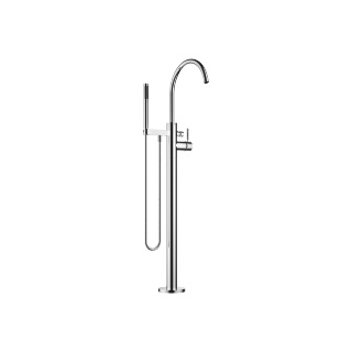 Single-lever tub mixer with standpipe for freestanding installation with hand shower set - polished chrome