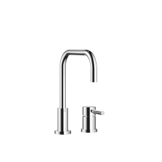 Two-hole mixer with individual flanges - polished chrome