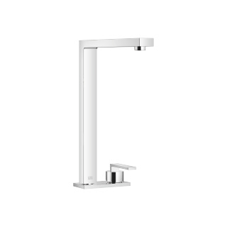 Two-hole mixer with cover plate - polished chrome