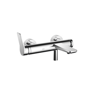 Single-lever tub mixer for wall-mounted installation without hand shower set - polished chrome