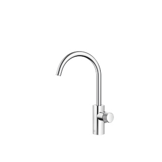 META PURE Single-lever basin mixer with pop-up waste - polished chrome