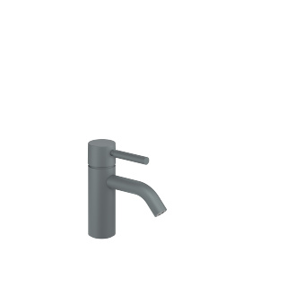 Single-lever lavatory mixer without drain - light grey