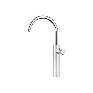 META PURE Single-lever basin mixer with raised base without pop-up waste - polished chrome