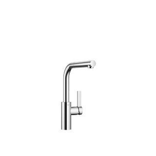 Single-lever mixer with pull-out spout - polished chrome