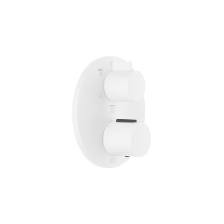 Concealed thermostat with three-way volume control - white matte