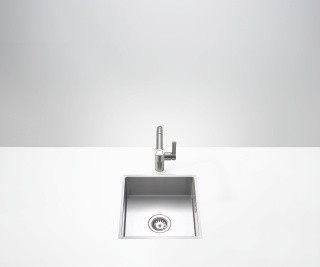 Single sink - matt high-grade steel