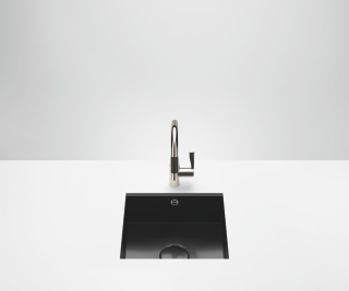 Single sink - high-gloss black