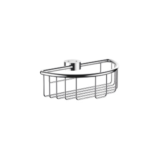 Shower basket for slide bar installation - polished chrome